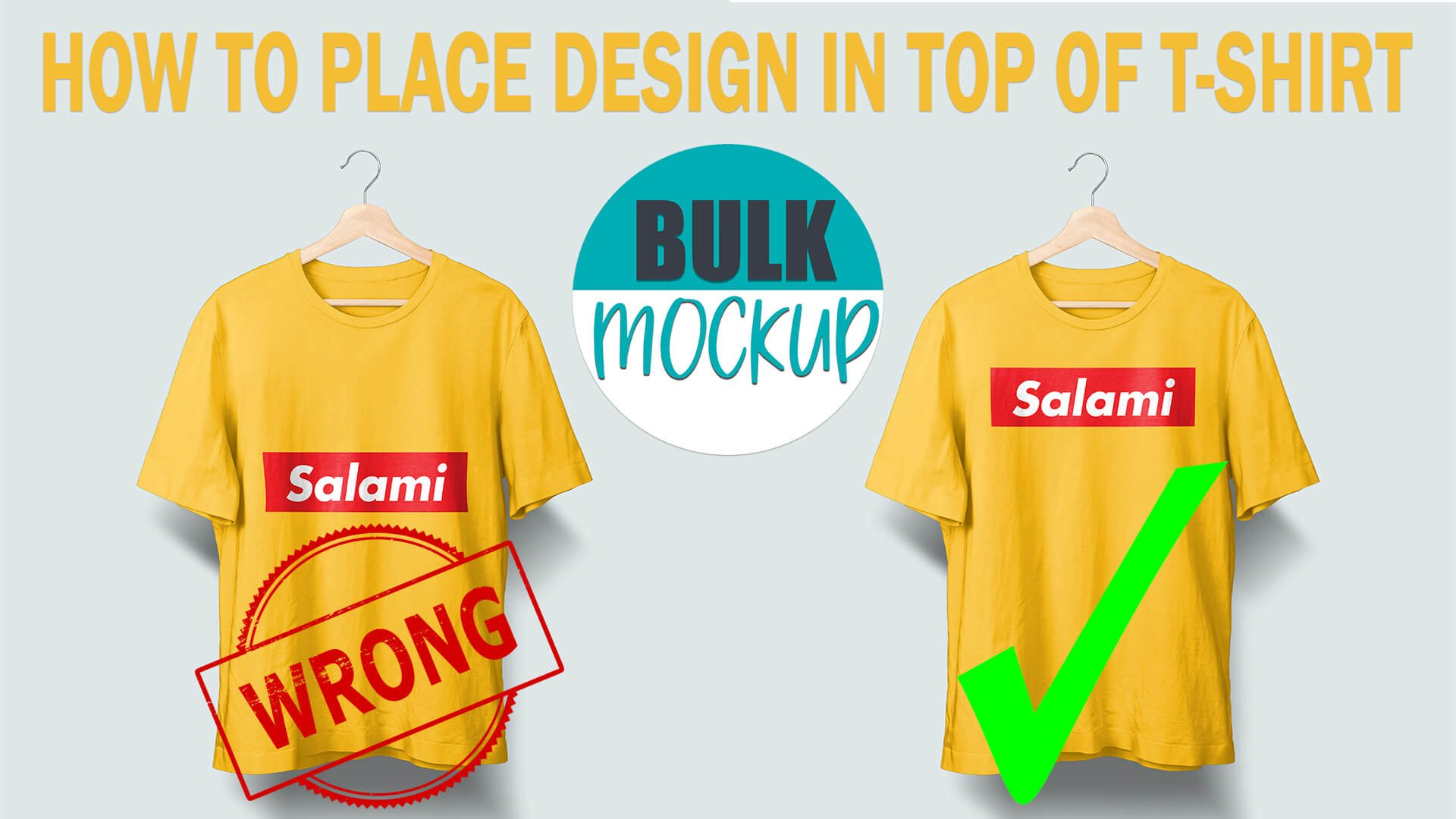 How to place designs at top of T-shirt instead at the centre
