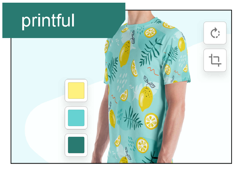 Printful.com is a web-based on-demand print and embroidery mock-up generator.