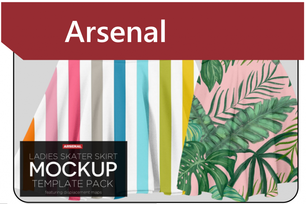 Mock-up Template Pack from Arsenal GoMedia