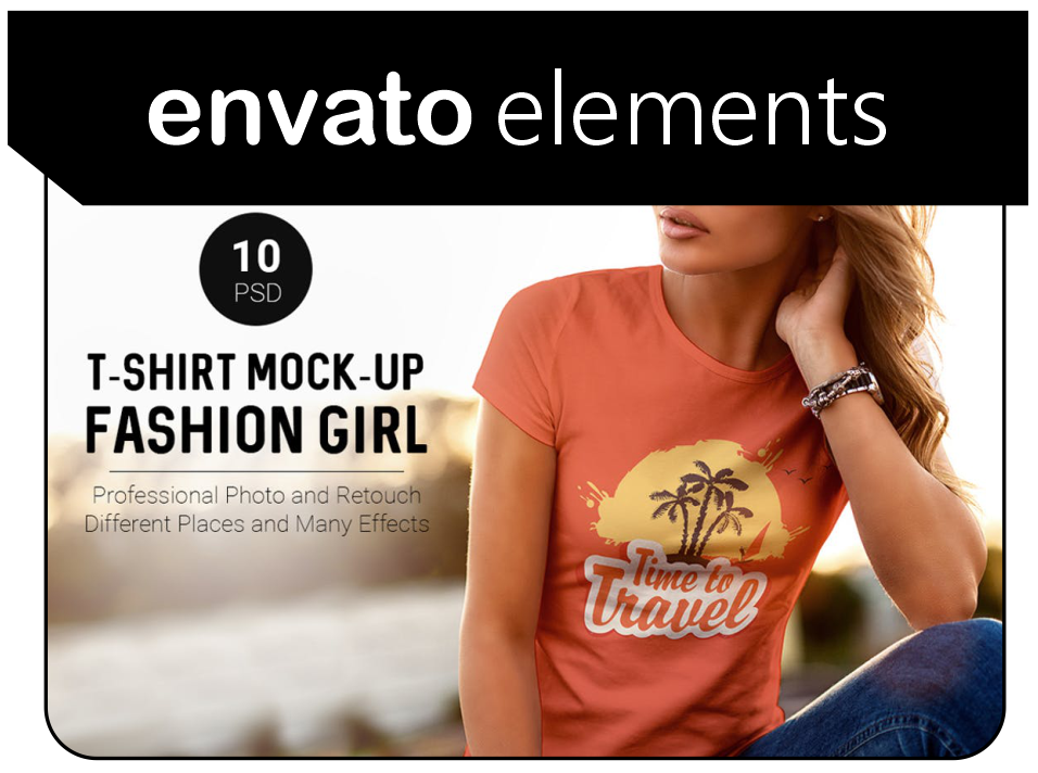 Mock-up templates from Envato elements